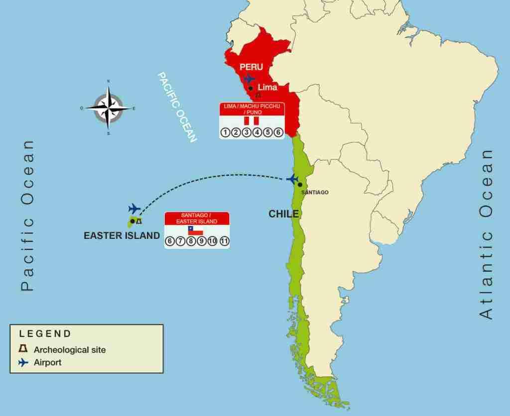 map of peru and chile Peru And Chile Mysterious 11 Days Mava Travel Mava Travel map of peru and chile